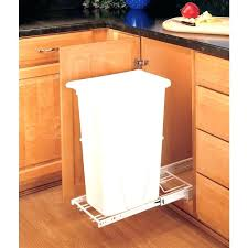 kitchen cabinet trash pull out pull out trash cabinet double soft close double waste recycling bins