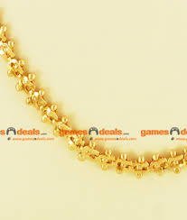 gold plated bead necklace images Xlg 36 inches extra long gold plated beaded petal design chain jpg