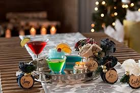 margarita gift set ornament cocktail mixes table setting 6 pc box gift set