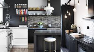 decoration cuisine noir et blanc cuisine blanc et bois mh home design 5 jun 18 13 06 01