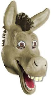 free printable shrek donkey mask trunk treat