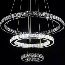 Dining Room Hanging Light Fixtures by Modern Diamond Ring Led K9 Crystal Chandelier Light Fixture For