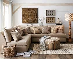 dekoration wohnzimmer landhausstil wohnzimmer landhausstil ecksofa zierkissen gemustert wohnideen