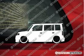 jdm car stickers 2x low car outline stickers toyota bb wagon lowered jdm