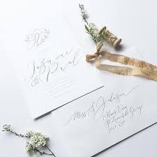 Calligraphy Wedding Invitations Simple Understated Elegance U2013 Calligraphy Wedding Invitations