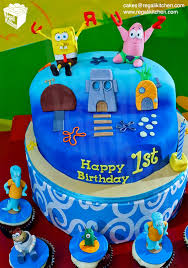 spongebob squarepants cake spongebob cake and cupcakes