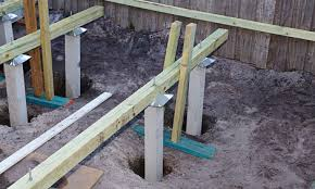 how to build a deck nz how to install bearers and stumps for a deck bunnings warehouse nz