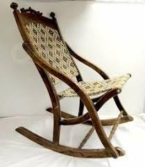 Folding Rocking Chair Antique Folding Carpet Rocker Rocking 05 Victorian