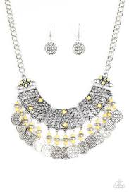 yellow jewelry necklace images Paparazzi necklace i am empress ed yellow debs jewelry shop jpg