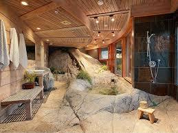 Modern Bathroom Design With Rocks - Modern bathrooms design