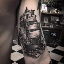 50 amazing ship tattoos you won u0027t believe are real tattooblend