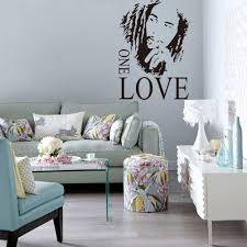 Home Decoration Wall Stickers by Wall Sticker Vinyl Art Decor Bob Marley One Love Mural Removable
