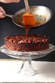 Thanksgiving Dessert Table Ideas by Praline Pumpkin Upside Down Cake The Speckled Palate