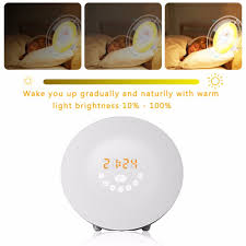 alarm clock that wakes you up during light sleep sunrise alarm clock wake up light alarm clock with 6 nature sounds