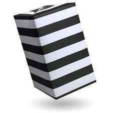black and white striped wrapping paper gift wrap stripes black and white