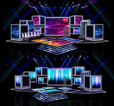 beautiful model in home design 3d concert stage design 3d model obj cgtrader com arafen