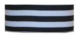black and white striped ribbon grosgrain mono stripe ribbon 1 5 10 yards black