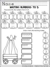 free fall number worksheets 1 10 fortoddler preschool prek