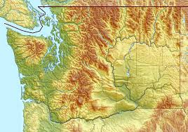 Detailed Map Of Washington State by Large Detailed Relief Map Of Washington State Vidiani Com Maps