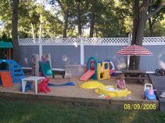 Backyard Idea A Little Too Busy But I Love The Spongy Foam Ground Home