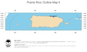 Blank Outline Map Of Trinidad And Tobago by Map Puerto Rico Ginkgomaps Continent South America Region
