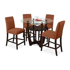 dining room dinette tables value city furniture value city alcove counter height dinette with 4 side chairs orange