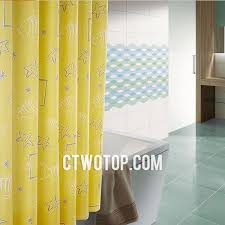 Trendy Shower Curtains Yellow And Fish Patterned Trendy Shower Curtains