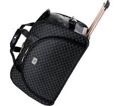 rioni handbag sig black stb20116 canvas leather carry on traveler