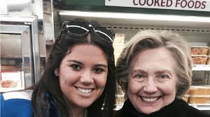 hillary clinton spotted shopping for thanksgiving with family in