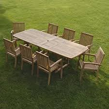 New Outdoor Furniture by Amazon Com New 9pc Grade A Teak Outdoor Dining Set One Double