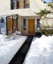 heattrak snow melting heated walkway and stair mats the green head