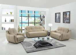 Beige Leather Living Room Set Modern Beige Leather Sofa Gu 88 Leather Sofas