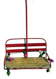 chairlift with lights ski ornament