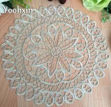 napperon de cuisine satin broderie place table tapis tissu dentelle napperon à