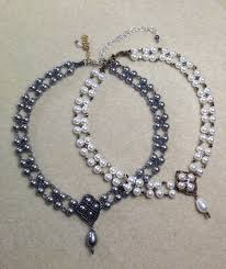 tutorial pearl necklace images Crazy for pearls bridal choker pearl necklace set seed bead jpg