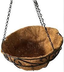 hanging planter basket amagabeli 4 pack metal hanging planter basket with coco coir liner