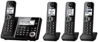 Turn Cellphone Into Home Phone by Amazon Com Panasonic Kxtgf344b Dect 4 Handset Landline Telephone