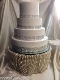 rhinestone cake stand pearl diamante rhinestone finish cake stand for wedding
