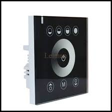 touch screen wall light switch dc 12v 24v glass touch digital touch screen dimmer home wall light