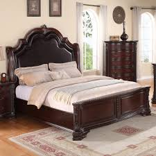 king upholstered headboard with nailhead trim crown mark sheffield king panel bed with upholstered headboard and