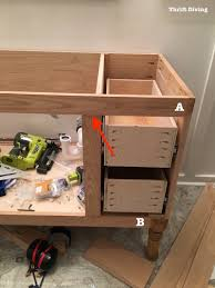 Kitchen Cabinets As Bathroom Vanity by Bathroom Cabinets Build A Diy Bathroom Vanity Build Drawers