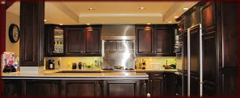 Dark Stain Kitchen Cabinets How To Refinish Kitchen Cabinets Yourself Home Decoration Ideas