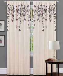Curtains With Purple In Them Ivory Purple Flower Drop Curtain Panel Daily Deals For