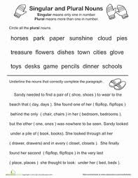 great grammar singular and plural nouns grammar worksheets