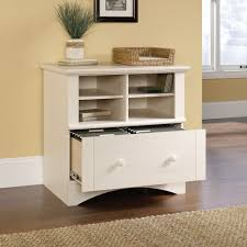 Sauder Harbor View Corner Computer Desk Antiqued White Finish Harbor View Lateral File 158002 Sauder