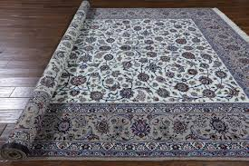 Signed Persian Rugs New Ivory Signed Isfahan 8 U0027x12 U0027 Hand Knotted Wool U0026 Silk Persian
