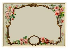vintage clip art pretty french perfume label frame the