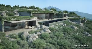 mountainside house plans mountainside villa with pool and green roof in corsica by