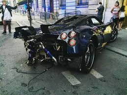koenigsegg paris 1 of 1 pagani huayra pearl crashed in paris gtspirit