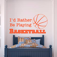 compare prices on boys stickers basketball online shopping buy basketball wall decal quote i d rather be playing basketball sports quotes wall sticker kids